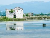 Посолите лотки sicciole, Pirano, Словении, Европы Стоковое фото RF