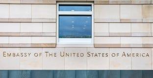 Посольство Соединенных Штатов Америки Берлина Германии стоковые фотографии rf