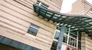 Посольство Соединенных Штатов Америки Берлина Германии стоковое изображение