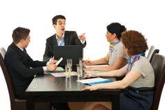 поспорьте встреча менеджера работника Стоковое Изображение