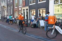 Поставка еды велосипеда Стоковые Изображения