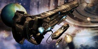Поставка космического корабля бесплатная иллюстрация