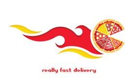 Поставка плоские 2 пиццы иллюстрация вектора