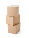 Поставка транспорта пакета картонной коробки moving стоковые изображения