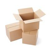 Поставка транспорта пакета картонной коробки moving Стоковая Фотография