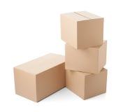 Поставка транспорта пакета картонной коробки moving Стоковая Фотография RF