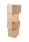 Поставка транспорта пакета картонной коробки moving Стоковое фото RF