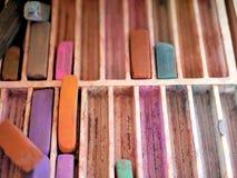 Поставки искусства: Пастели мела цвета Стоковые Изображения