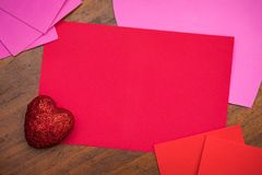 Поставки карточки дня ` s валентинки Стоковая Фотография RF
