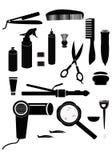 Поставки парикмахерских услуг Стоковое фото RF