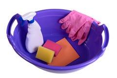 поставкы губок ткани чистки предпосылки новые померанцовые Стоковое Фото