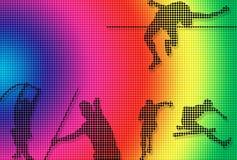 поставленная точки атлетика Стоковое фото RF