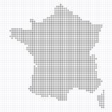 поставленная точки карта Франции Стоковое Изображение
