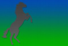 поставленная точки лошадь необузданная Стоковое Изображение RF