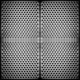 поставленная точки предпосылкой сталь металла Стоковые Фотографии RF