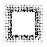 Поставленная точки рамка черноты квадрата grunge полутонового изображения Стоковое Изображение RF