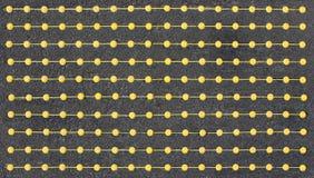 Поставленные точки желтые линии Стоковые Фотографии RF