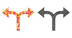 Поставленные точки значки мозаики стрелок развилки левые бесплатная иллюстрация