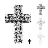 Поставленный точки крест христианина grunge полутонового изображения Стоковое фото RF