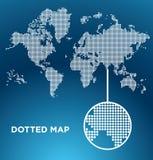 поставленный точки мир вектора карты Стоковое Изображение