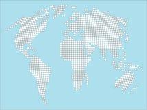 поставленный точки мир карты стилизованный белый Стоковые Изображения RF