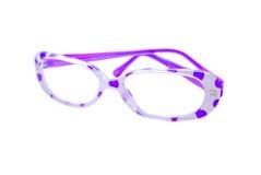 поставленный точки пурпур польки стекел Стоковое фото RF