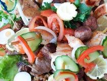 Поставляя еду еда шведского стола или партии, закуски стоковые фото