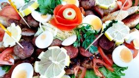 Поставляя еду еда шведского стола или партии, закуски стоковые фотографии rf