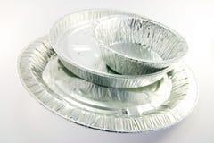 поставляя еду смешанные круглые подносы Стоковая Фотография