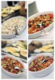 поставляя еду холодная тарелка коллажа Стоковые Изображения