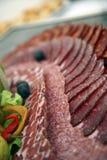 поставляя еду холодная тарелка Стоковые Изображения
