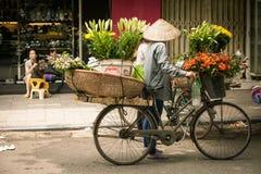 Поставщики цветка в Ханое Стоковое Фото