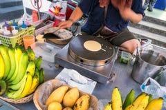 Поставщик блинчика банана Стоковые Изображения