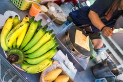 Поставщик блинчика банана Стоковое Изображение RF