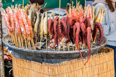 Поставщик еды на парке замка Hirosaki стоковые фото