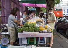 Поставщик еды улицы, Бангкок Стоковые Изображения RF