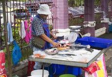 Поставщик еды улицы, Бангкок Стоковые Изображения