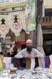 поставщик на благотворительном базаре anarkali, Лахоре, Пакистане Стоковые Изображения