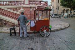 Поставщик попкорна в Бразилии Стоковое Фото