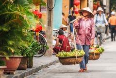 Поставщик плодоовощ в Hoi, Вьетнаме Стоковые Фотографии RF