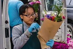 Поставщик цветка - рынок города Roanoke Стоковые Изображения