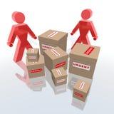 поставьте пакеты к срочному Стоковое Фото