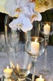 Украшение таблицы венчания стоковые фотографии rf