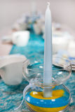 Поставьте установку на обсуждение для крещения, дня рождения или свадьбы стоковая фотография rf