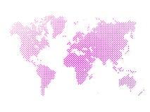Поставленная точки абстрактная карта вектора мира иллюстрация вектора
