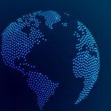 Поставленная точки конспектом земля глобуса Стоковые Изображения RF