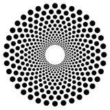 Поставленная точки круглая форма, элемент Абстрактный мотив с кругами Стоковая Фотография RF