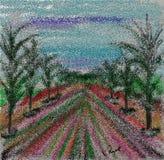 Поставленная точки дорога дерева стоковое фото