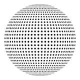 Поставленная точки сфера, элемент дизайна шарика Стоковое фото RF