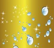 Поставленная точки циркуляром предпосылка вектора золотая Стоковые Изображения